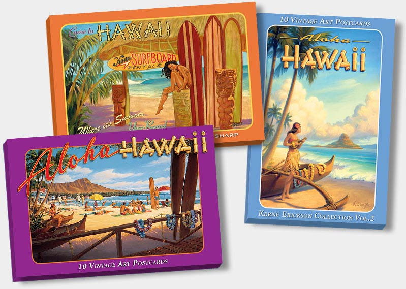 Hawaiian Vintgae Boxed Postcards