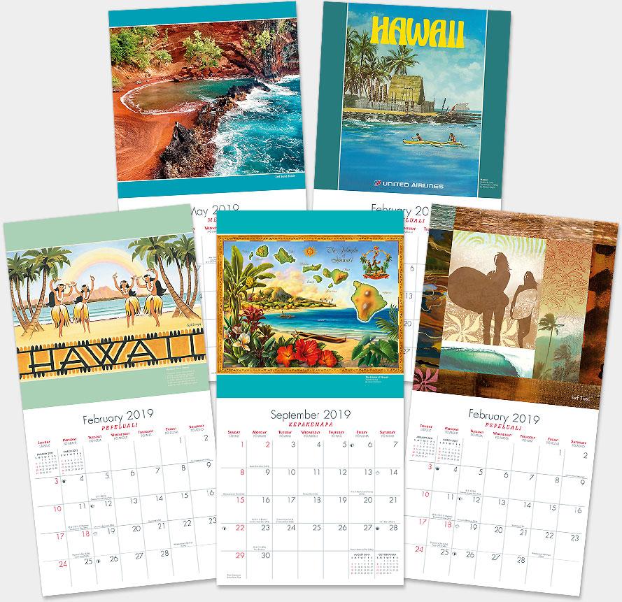Hawaiian Calendars 2019