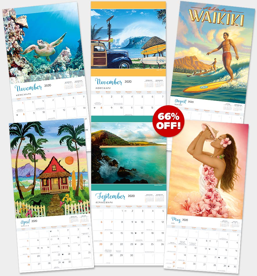 2020 Hawaiian Wall Calendars