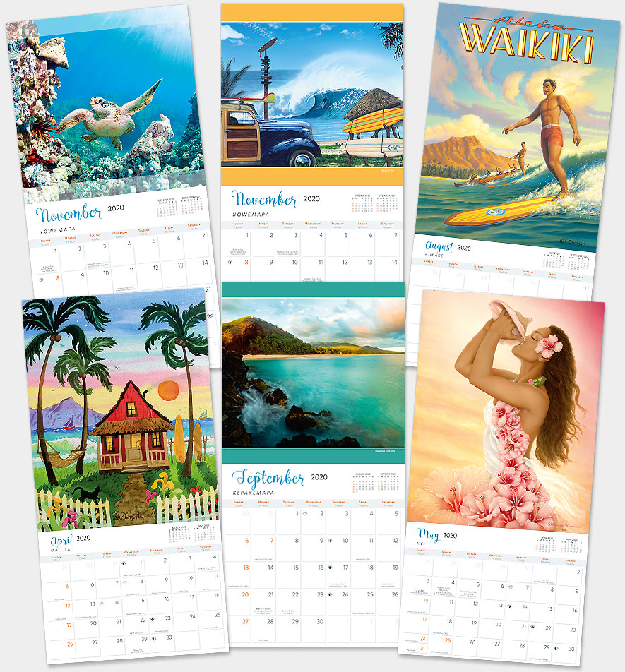 Hawaii Calendar 2020 Hawaiian Calendars 2020   Deluxe Wall Hawaii Calendars   Island