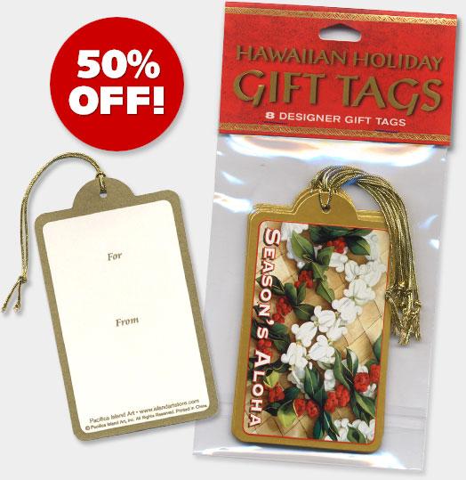Hawaiian Holiday Christmas Gift Tags - ON SALE 50% OFF!