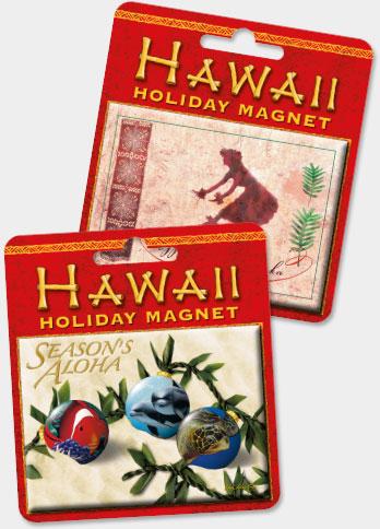 Hawaiian Holiday Christmas Magnets