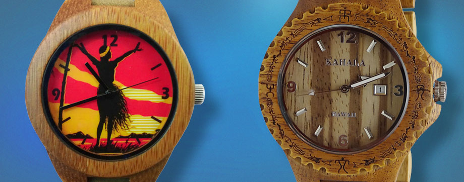 Hawaiian Jewelry - Kahala Wood Watches