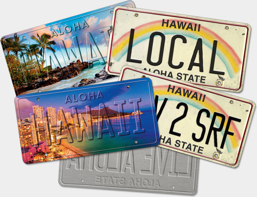 Hawaiian Vintage License Plates