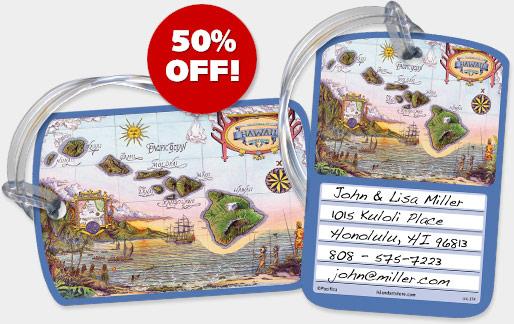 Hawaiian Luggage Tags - ON SALE 50% OFF!