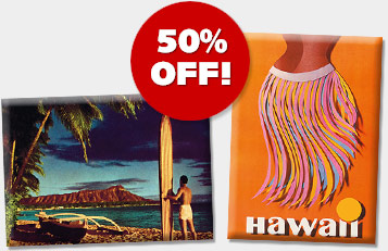 Hawaiian Magnets - ON SALE 50% OFF!