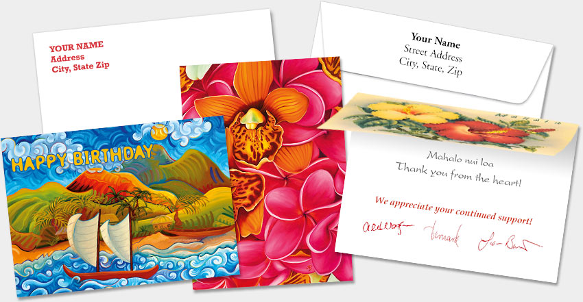 HAWAIIAN PERSONALIZED SPECIAL OCCASION GREETING CARDS