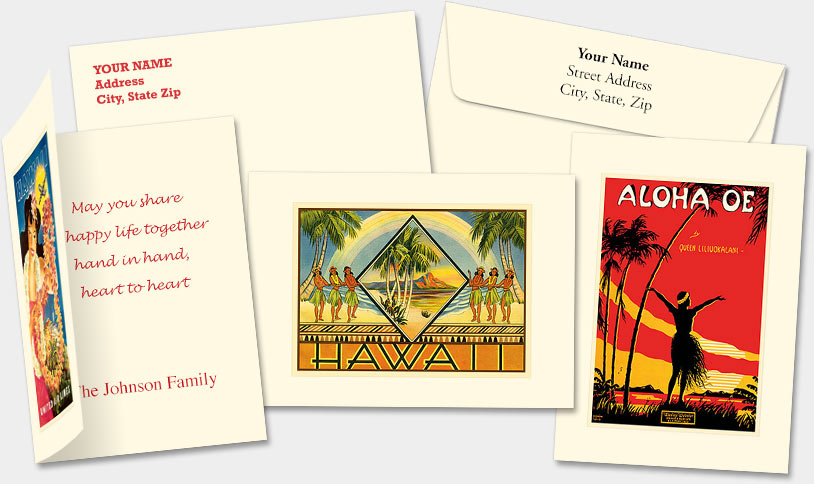 HAWAIIAN PERSONALIZED PREMIUM GREETING CARDS