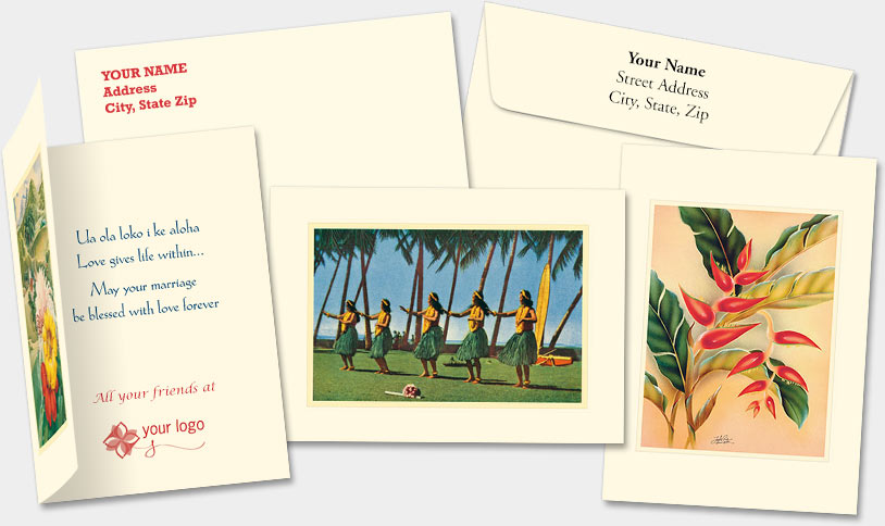 HAWAIIAN PERSONALIZED SPECIAL OCCASION PREMIUM GREETING CARDS