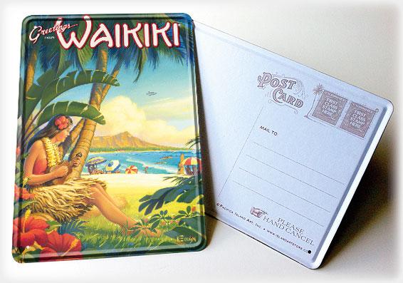 Hawaiian Vintage Yin Sign Postcards