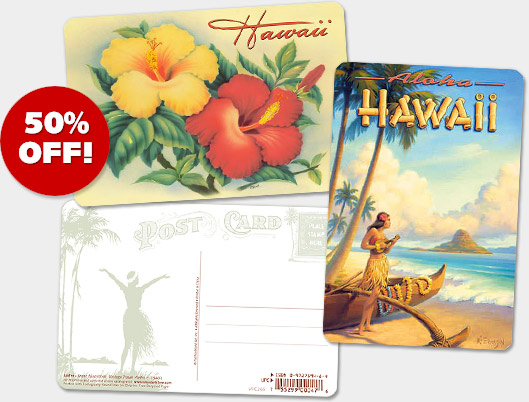 Hawaiian Vintage Postcards - ON SALE 50% OFF!