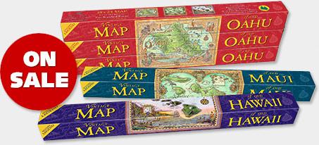 Hawaiian Vintage Maps - ON SALE 50% OFF!