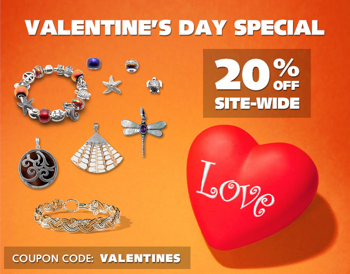 Valentines Day Special - 20% OFF Site-Wide Plus Free Shipping