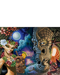 The Moon of Manakoora - Fine Art Giclée Print by Brad Parker