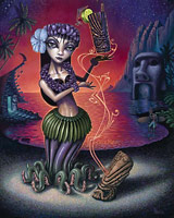 The Jungle witch - Fine Art Giclée Print by Brad Parker