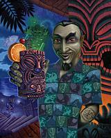 Bela Lugosi Has A Zombie - Fine Art Giclée Print by Brad Parker