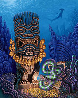 The Sunken Tiki - Fine Art Giclée Print by Brad Parker