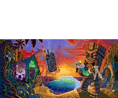 Forbidden Island - Fine Art Giclée Print by Brad Parker