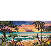 Wailea Moon - Limited Edition Watercolor Giclée Art Print