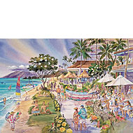 Dig Me Beach - Limited Edition Watercolor Giclée Art Print