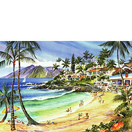 Napili Bay - Limited Edition Watercolor Giclée Art Print