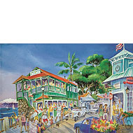 Cheeseburger in Paradise - Limited Edition Watercolor Giclée Art Print