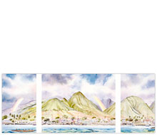 Lahainatown Tryptych - Limited Edition Watercolor Giclée Art Print