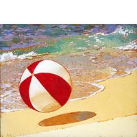 Beachball At Mahaulepu - Limited Edition Giclée Canvas Prints