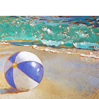 Blue And White Beachball - Limited Edition Giclée Canvas Prints