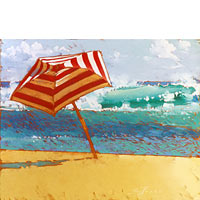 Red Umbrella - Limited Edition Giclée Canvas Prints
