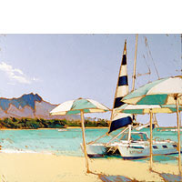 Sail Waikiki - Limited Edition Giclée Canvas Prints