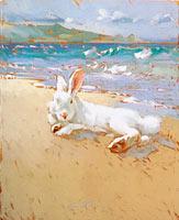 Beach Bunny - Limited Edition Giclée Canvas Prints