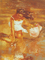 The Woman's Reflection - Limited Edition Giclée Canvas Prints