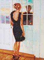 Model At Lahaina - Limited Edition Giclée Canvas Prints
