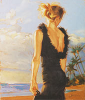 Model At Sunset 1 - Limited Edition Giclée Canvas Prints