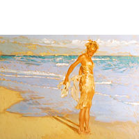 Model At Baldwin Beach - Limited Edition Giclée Canvas Prints