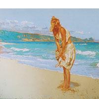 Gold Silk Skirt - Limited Edition Giclée Canvas Prints