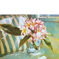 Plumeria And Pillow - Limited Edition Giclée Canvas Prints