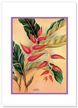 Heliconia - Hawaiian Collectors Edition Greeting Cards - Easter Cards