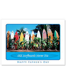 Old Surfboards - Hawaiian Collectors Edition Greeting Cards - Father's Day Cards