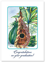 Mele Pua - Hawaiian Collectors Edition Greeting Cards - Graduation Cards