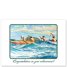 Outrigger at Sea - Hawaiian Collectors Edition Greeting Cards - Graduation Cards