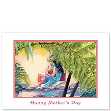 Mother and Child - Hawaiian Collectors Edition Greeting Cards - Mother's Day Card