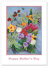 Island Floral - Hawaiian Collectors Edition Greeting Cards - Mother's Day Card