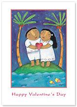 Hawaiian Love Song - Hawaiian Collectors Edition Greeting Cards - Valentine's Day Card