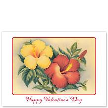 Hawaiian Hibiscus - Hawaiian Collectors Edition Greeting Cards - Valentine's Day Card