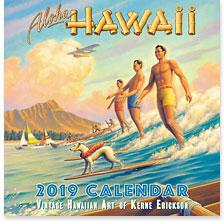Aloha Hawaii - 2019 Deluxe Hawaiian Wall Calendar