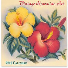 Vintage Hawaiian Art - 2019 Deluxe Hawaiian Wall Calendar