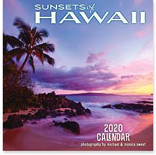 Sunsets of Hawaii - 2020 Deluxe Hawaiian Wall Calendar