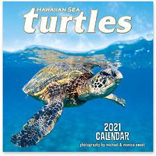 Hawaiian Sea Turtles - 2021 Deluxe Hawaiian Wall Calendar